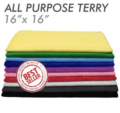 3x All-Purpose Microfiber Terry Towel Green 41 x 41см