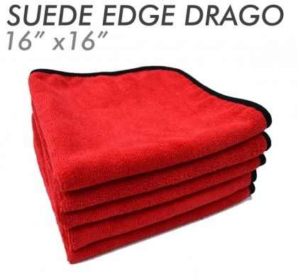 3x The Drago Suede Edge Red 41 х 41см